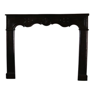 18th Century French Carved Mantle For Sale
