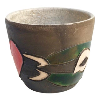 Figurative Studio Pottery Bowl