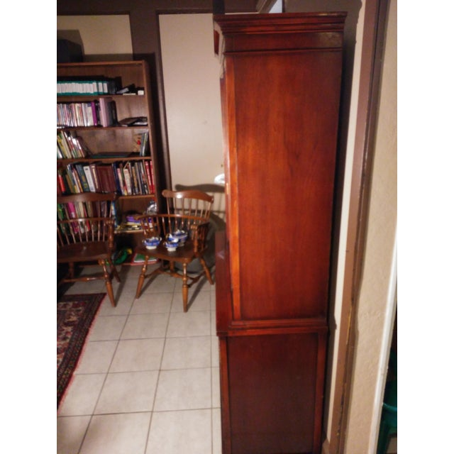 Wood Bernhardt Mahogany Glass Front China Cabinet For Sale - Image 7 of 11