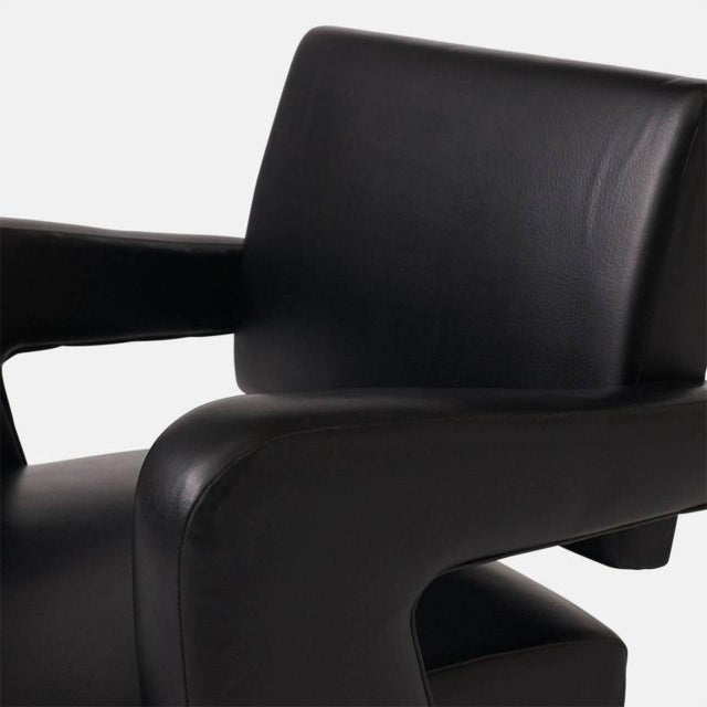 1950s Jacques Adnet Leather Armchair For Sale - Image 5 of 7