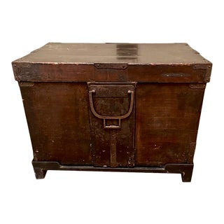Antique Japanese Lacquer Box or Trunk For Sale