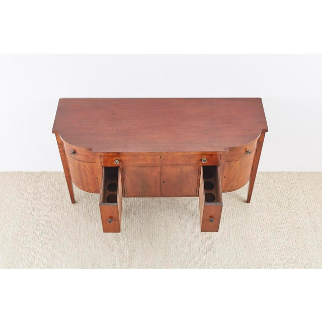 Mid 19th Century American Federal Mahogany Bow Front Sideboard For Sale - Image 5 of 13