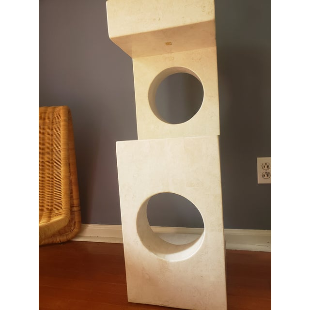 Stone 1980s Sculptural Tessellated Stone Display Pedestal For Sale - Image 7 of 13