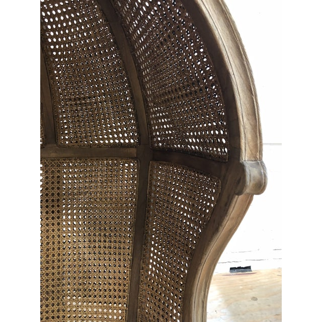 Caning Porters Style Balloon Caned Chair For Sale - Image 7 of 13