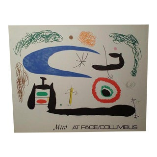 1979 Abstract Miro at Pace Columbus Exhibition Lithograph