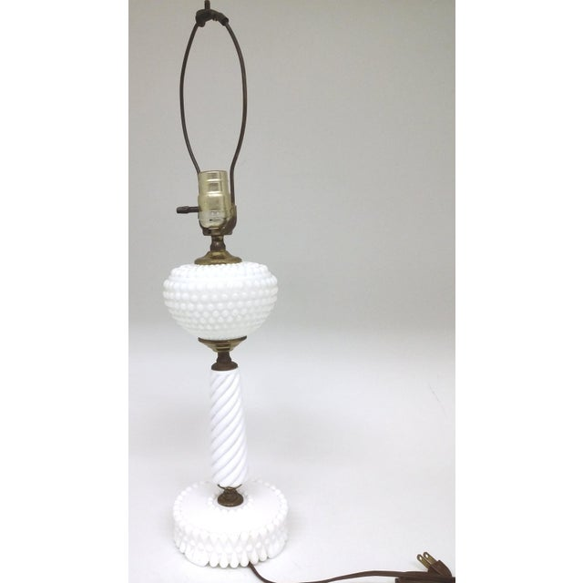 Vintage Milk Glass Table Lamp - Image 2 of 8