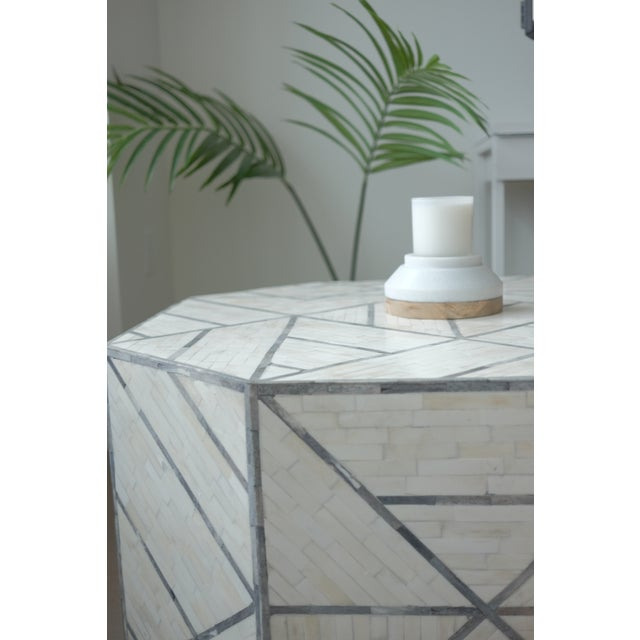 West Elm Bone Inlaid Coffee Table Chairish - West elm bone coffee table