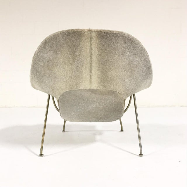 Vintage Eero Saarinen Womb Chair Reupholstered in Brazilian Cowhide For Sale In Saint Louis - Image 6 of 11