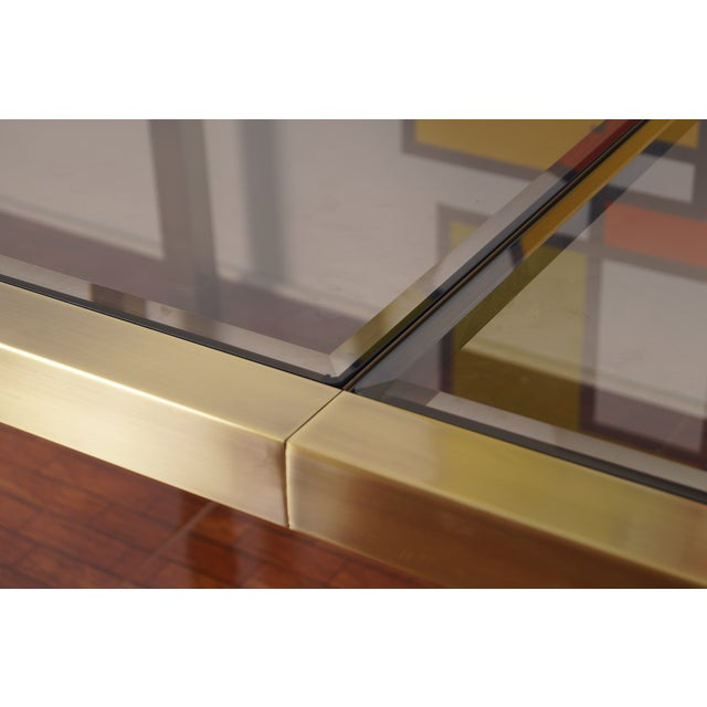 Vintage Mastercraft Brass & Glass Dining Table - Image 5 of 7