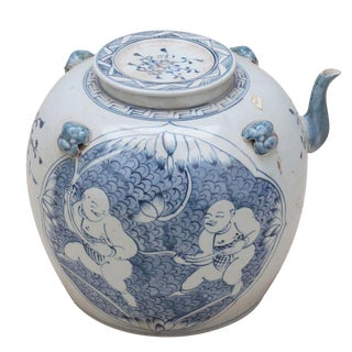 Sarreid LTD Traditional Blue & White Tea Serving Pot