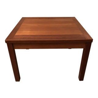 1960s Danish Modern Lyby Mobler Teak Square Table For Sale