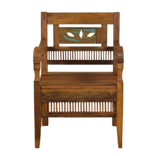 Reclaimed Peroba Wood Handmade Eco-Friendly Armchair For Sale