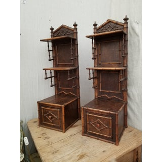 Pair of Antique Faux Bamboo Shelves Preview