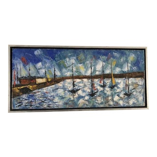 """Mid-Century Abstract """"The Harbor"""" For Sale"""