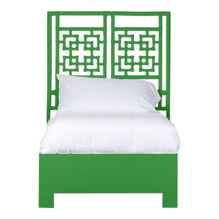 Palm Springs Bed Twin Extra Long - Bright Green For Sale