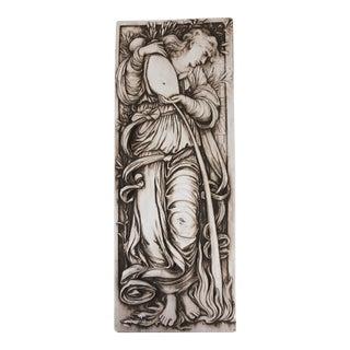 Vintage Neoclassical Sculptural Relief Italian Plaster Plaque For Sale