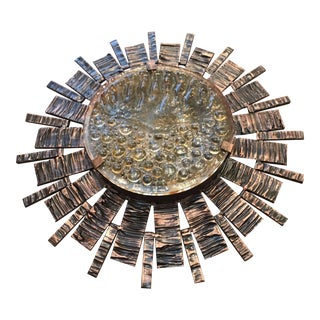 Mid-Century Modern Brutalist Sunburst Sconce For Sale