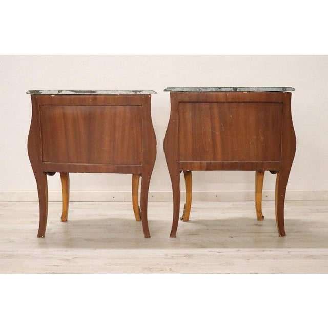 20th Century Italian Venetian Louis XV Style in Wood Burl - a Pair For Sale - Image 12 of 13