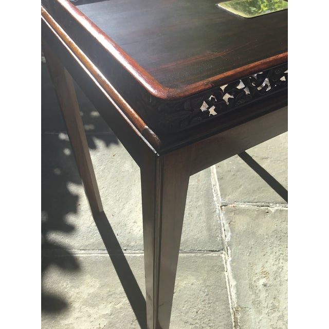 1960s Chinoiserie Chippendale Rosewood Tray Table For Sale - Image 5 of 12