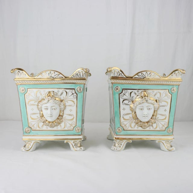 Henry Morris English Swansea Bough Pots - A Pair For Sale - Image 4 of 10