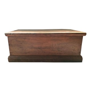 1920s American Classical Wood Storage Trunk For Sale