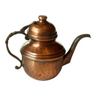 1960s Vintage Small Copper Tea Pot For Sale