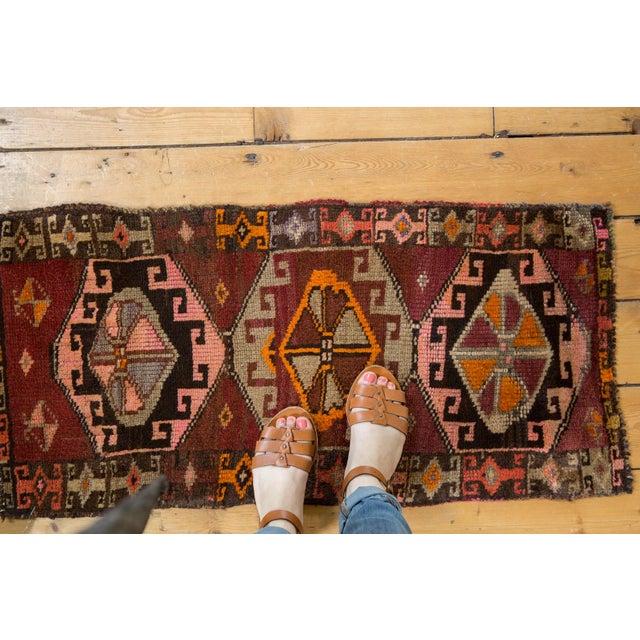 "Old New House Vintage Oushak Rug Mat Runner - 1'8"" X 3'5"" For Sale - Image 4 of 6"