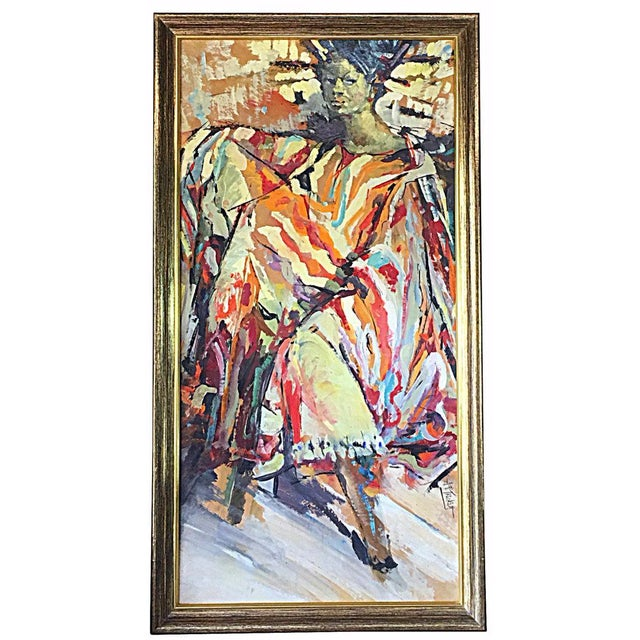 1960s African-American Woman Abstract - Image 1 of 5