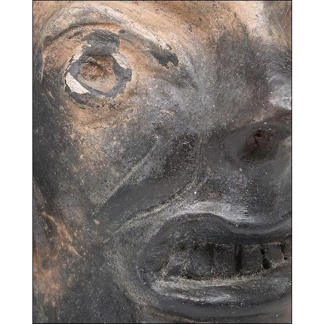 Georgia Blizzard Vintage Folk Art Old Devil Pottery Sculpture Face Jug Cup For Sale - Image 4 of 13