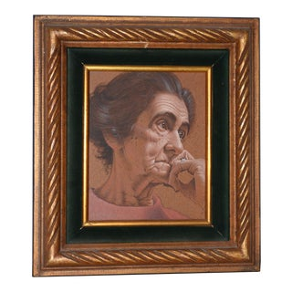Vasileos Kapousouz (Greek, B.1912-1985) Portrait of Woman C.1971 For Sale