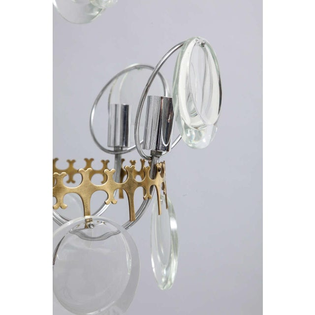 Vistosi Clear Crystal Disc Chandelier For Sale - Image 6 of 10