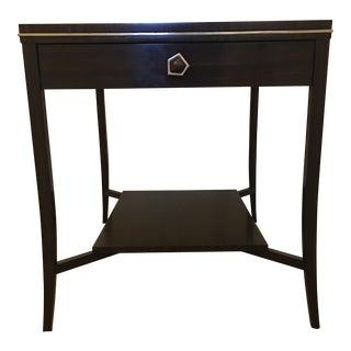 Modern Jonathan Charles Tiger Wood Side Table For Sale