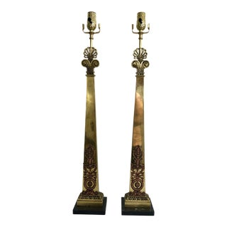 French Empire Style Lamps a Pair For Sale