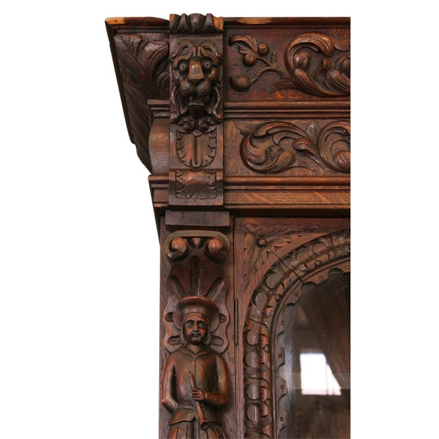 Antique French Buffet Hunting Style Cabinet - Image 5 of 8