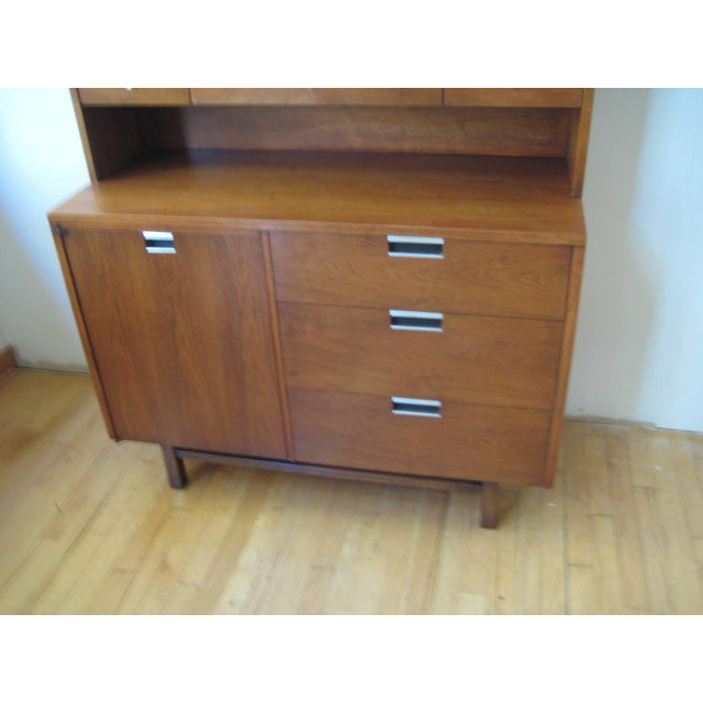 1960s 1960s Mid Century Walnut Two Piece Credenza For Sale - Image 5 of 10