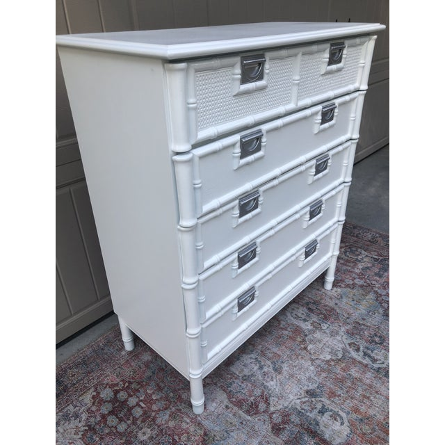 Stanley Furniture Stanley Furniture Faux Bamboo Chest of Drawers For Sale - Image 4 of 10