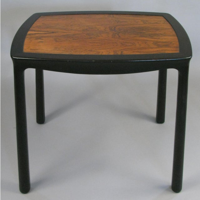 Vintage 1960s Mahogany & Rosewood Table by Edward Wormley for Dunbar For Sale In New York - Image 6 of 6