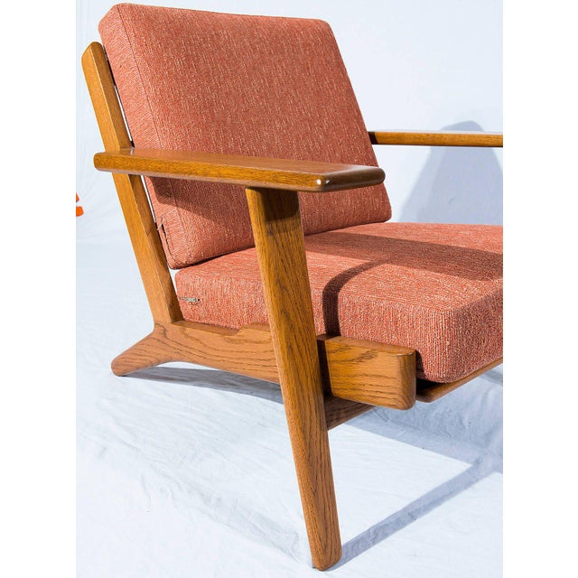 Wood Hans Wegner GE-290 Lounge Chair For Sale - Image 7 of 10