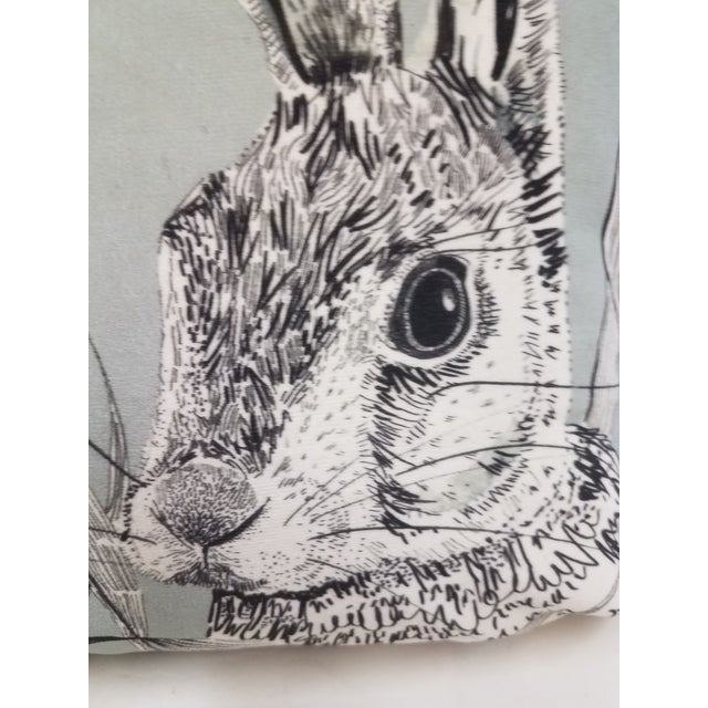 Rabbit Hare Pillow - Made in Wales, United Kingdom This pillow was made in Wales, U.K., by a small cottage...