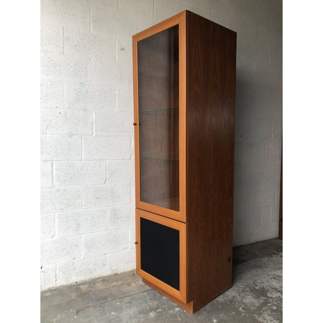 Mid-Century Modern Vintage Mid Century Modern Danish Style Curio Display Cabinet. For Sale - Image 3 of 13