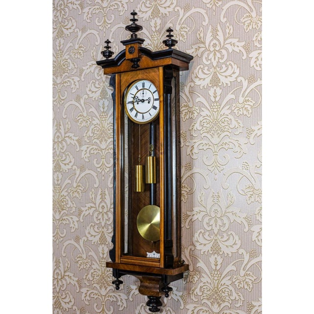Traditional 19th-Century Regulator Wall Clock For Sale - Image 3 of 11