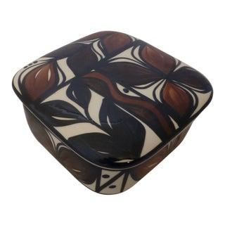 Mid Century Signed Italian Porcelain Goodie Box