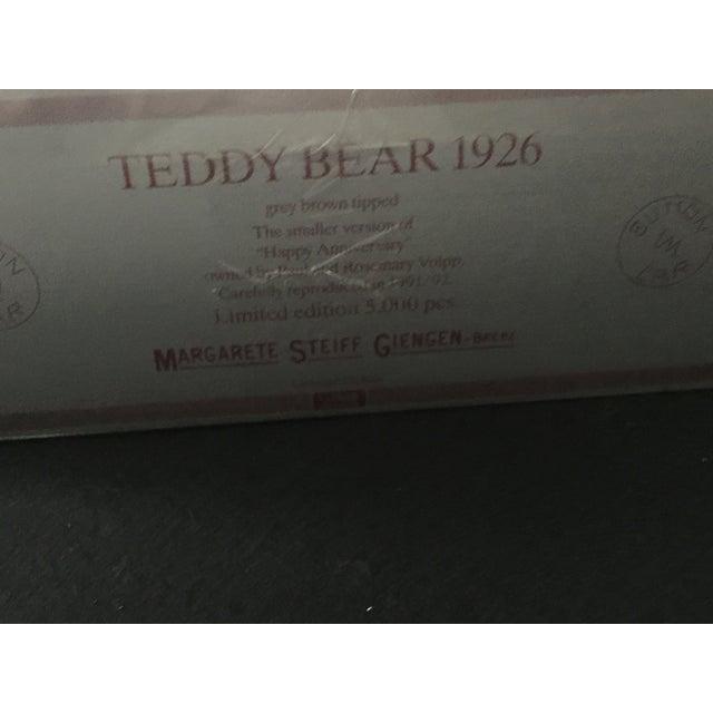 "Antique Steiff Teddy Bear - Replica, 1926 ""Happy Anniversary"" Teddy Bear For Sale - Image 10 of 12"