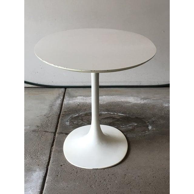Burke Mid-Century Saarinen Style Oval Tulip Table For Sale - Image 4 of 12