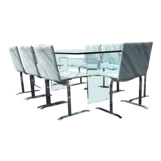 Giovanni Offredi for Saporiti Italia Glass & Lucite Dining Set