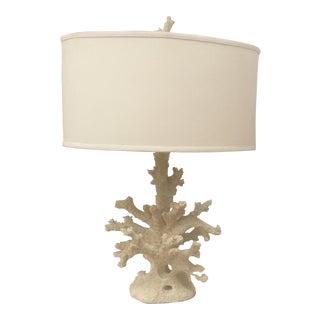 White Faux Coral Lamp