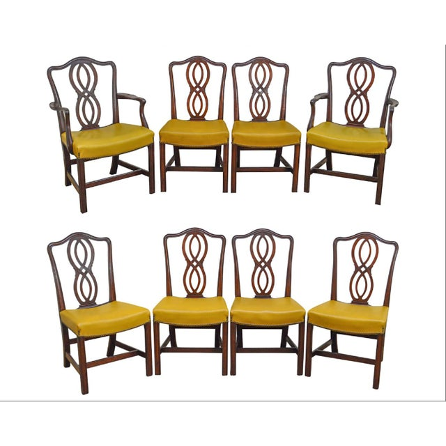 George III Chippendale Style Antique Mahogany Dining Chairs - Set of 8 For Sale - Image 13 of 13