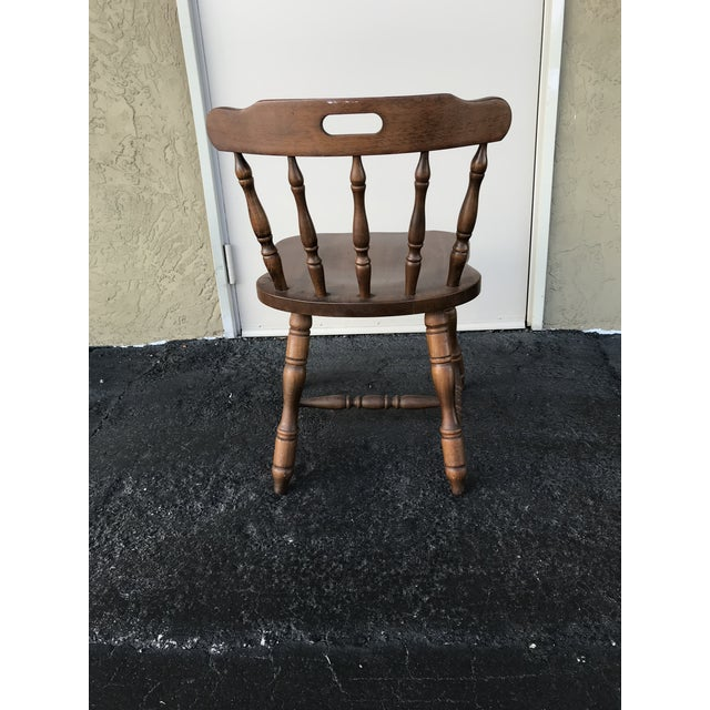 Contemporary 1950s Traditional Bistro Western Yugoslavia Windsor Chair For Sale - Image 3 of 13