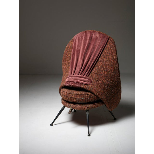 "1950s ""Martingala"" Lounge Chair by Marco Zanuso for Arflex For Sale - Image 5 of 7"