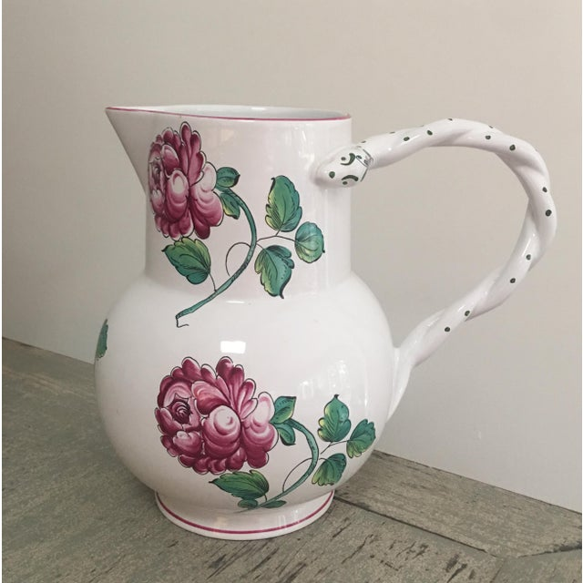 Late 20th Century Vintage Tiffany & Co Strasbourg Flowers Pitcher and Plates Set - 5 Pieces For Sale - Image 5 of 10
